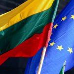 Флаг Литвы и ЕС