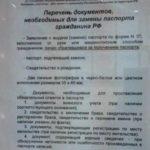 Список документов для получения паспорта